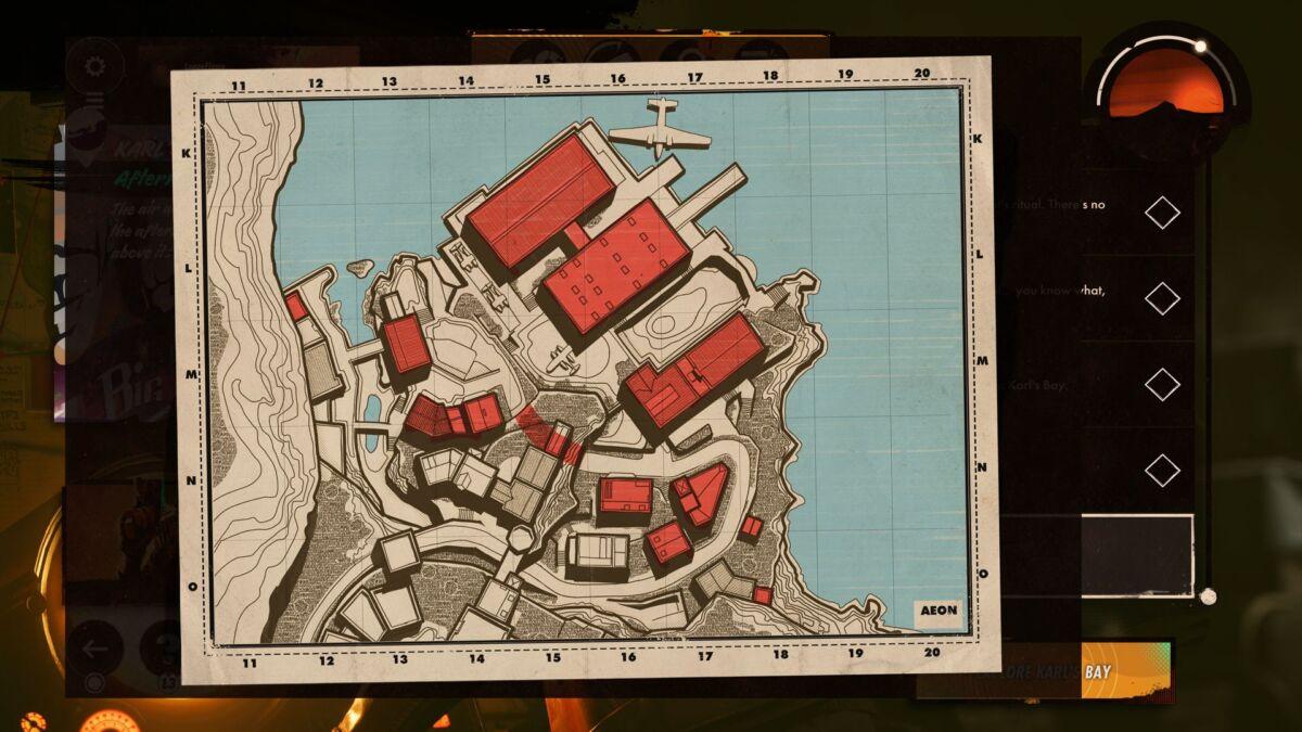 Deathloop Karl's Bay Map
