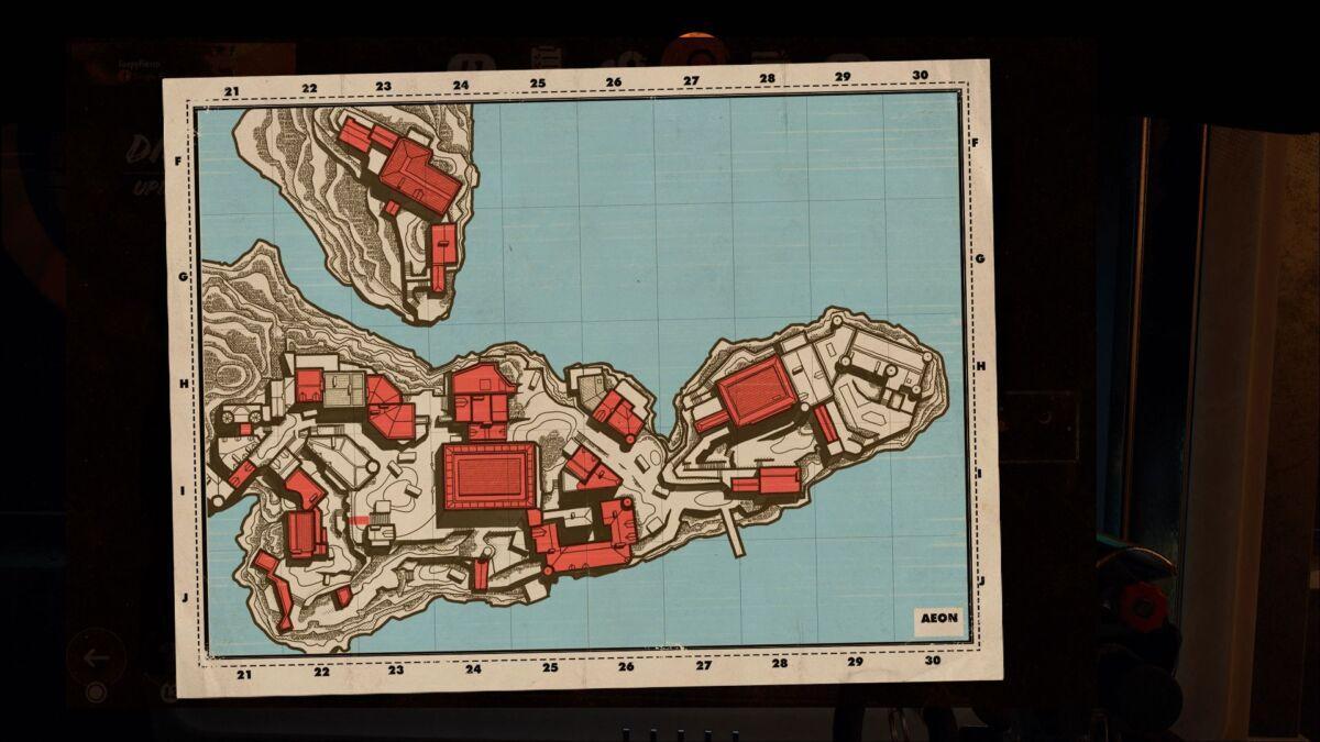 Deathloop Updaam map