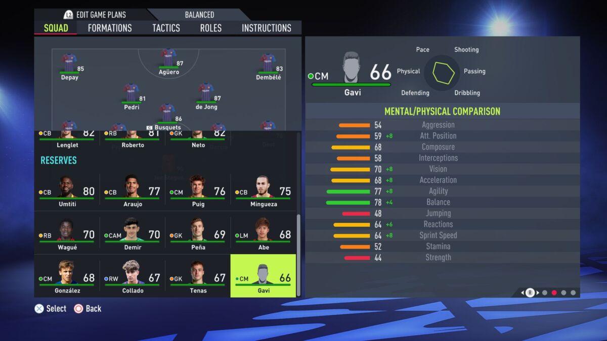 Pablo Gavi FIFA 22
