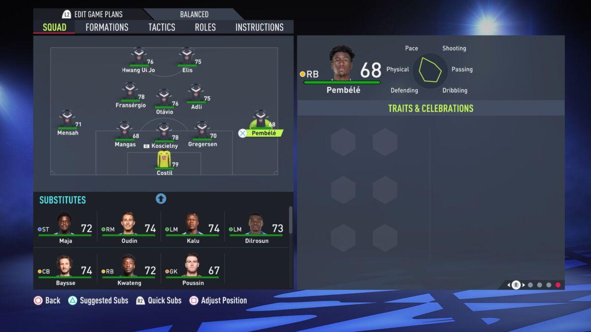Timothée Pembélé Fifa 22